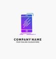 device mobile phone smartphone telephone purple vector image vector image