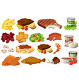 different kinds of healthy food vector image vector image