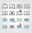 Different laptop icons set with rounded corners vector image vector image