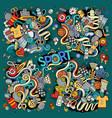 doodle cartoon set of sport designs vector image vector image