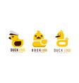 duck logo original templates design set badge vector image vector image