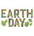 earth day decorative zentangle object vector image