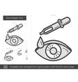Eye dropper line icon vector image vector image