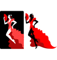Flamenco dancer vector image vector image