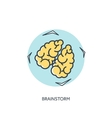 Flat lined brains icon vector image vector image