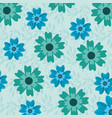 floral background flowers decoration nature vector image