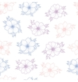 Floral seamless pattern of flower anemone vector image vector image