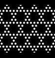 geometric seamless pattern monochrome hexagonal vector image vector image