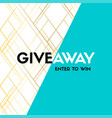 giveaway enter to win banner template for vector image vector image