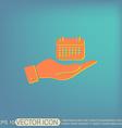 hand holding a calendar vector image
