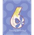 Happy birthday six card vector image