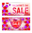 happy valentines day sale banners isolated on vector image vector image