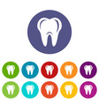 hygiene of tooth icon simple style vector image vector image