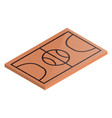 icon playground basketball in isometric vector image