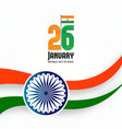 indian republic day 26th january background vector image
