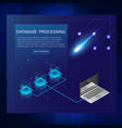 isometric of server and data processing concept vector image