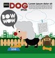 Little Dog With Bone Cookie EPS10 vector image vector image