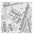 Making Money With Autoresponders Word Cloud vector image vector image