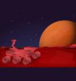 mars rover concept banner cartoon style vector image
