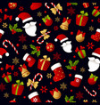 merry christmas seamless pattern decoration vector image