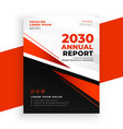 modern red annual report brochure page template vector image vector image