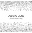 music notes background vector image vector image