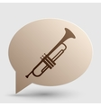 Musical instrument Trumpet sign Brown gradient vector image vector image