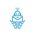 octopus robot logo vector image vector image