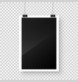 photo card frame film hanging on paper clips vector image