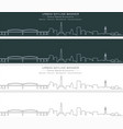 plymuoth single line skyline profile banner vector image vector image