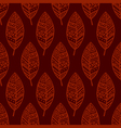 Red line ethic mexican leaf seamless pattern pr vector image vector image