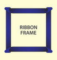 ribbon frame template design vector image vector image