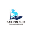 sailing ship design concept template vector image vector image