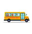 school bus flat set vector image vector image