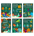 school supplies sale promotion poster template vector image vector image