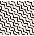 Seamless Black and White Hand Drawn Wavy vector image vector image