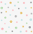 seamless pattern with colorful animal foot prints vector image vector image