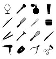 set of black beauty icons vector image vector image