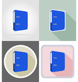 stationery flat icons 08 vector image vector image