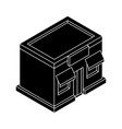 store front black isometric drawing vector image vector image