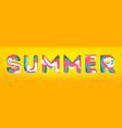 summer - inscription in volumetric letters 3d vector image