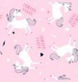 sweet unicorn seamless pattern vector image vector image
