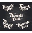 thank you handwritten inscription written vector image