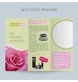 Tri-foldSpa BrochureMock Up vector image vector image