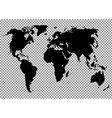 World map on the background vector image vector image
