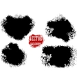 dirty black blob vector image