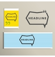 Set simple banners with speech bubbles vector image