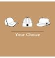 men fashion hats to choose vector image