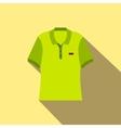 Green men polo shirt flat icon vector image