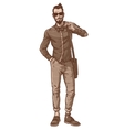 a fashionable guy vector image
